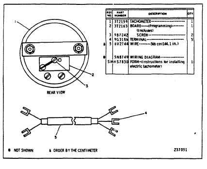 caterpillar tachometer wiring  travel trailer electrical